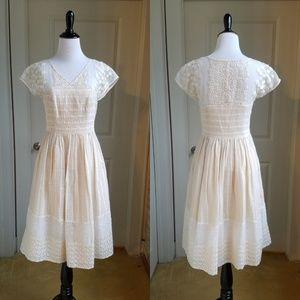 Moulinette Soeurs Poema Ivory Lace Dress, 4